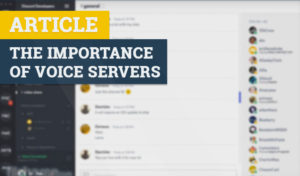 The importance of voice servers ts5