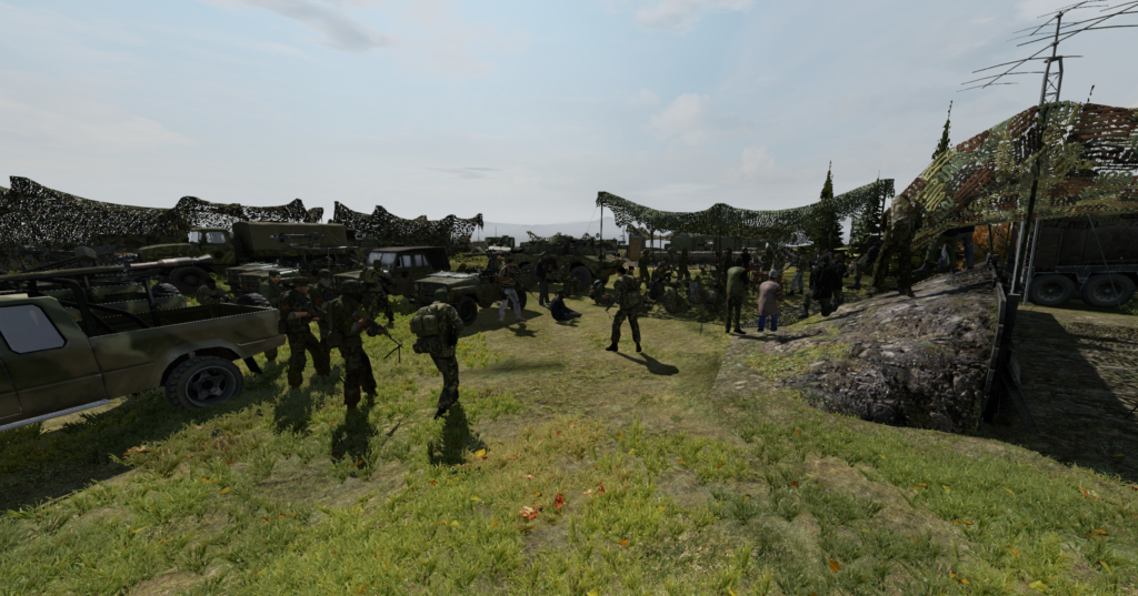 Dayzrp military rally angry-mob interview