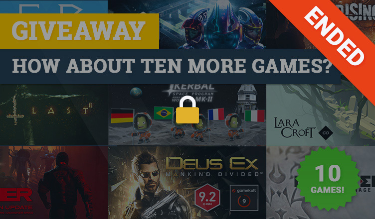 ten games giveaway has ended
