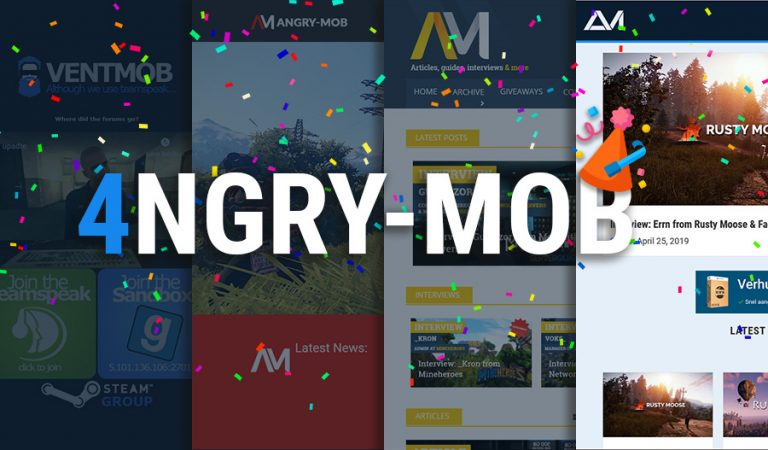 angry mob turns 4 years old big giveaway